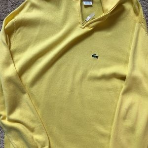 Lacoste Yellow Knit Sweater Size L 6